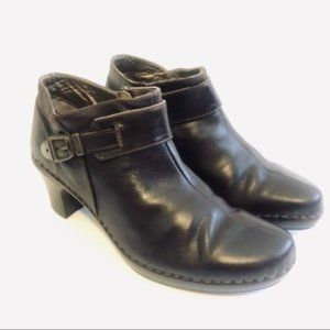 Josef Seibel Brown Leather Comfort Ankle Booties